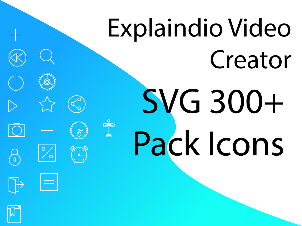 Explaindio Video Creator SVG Icons
