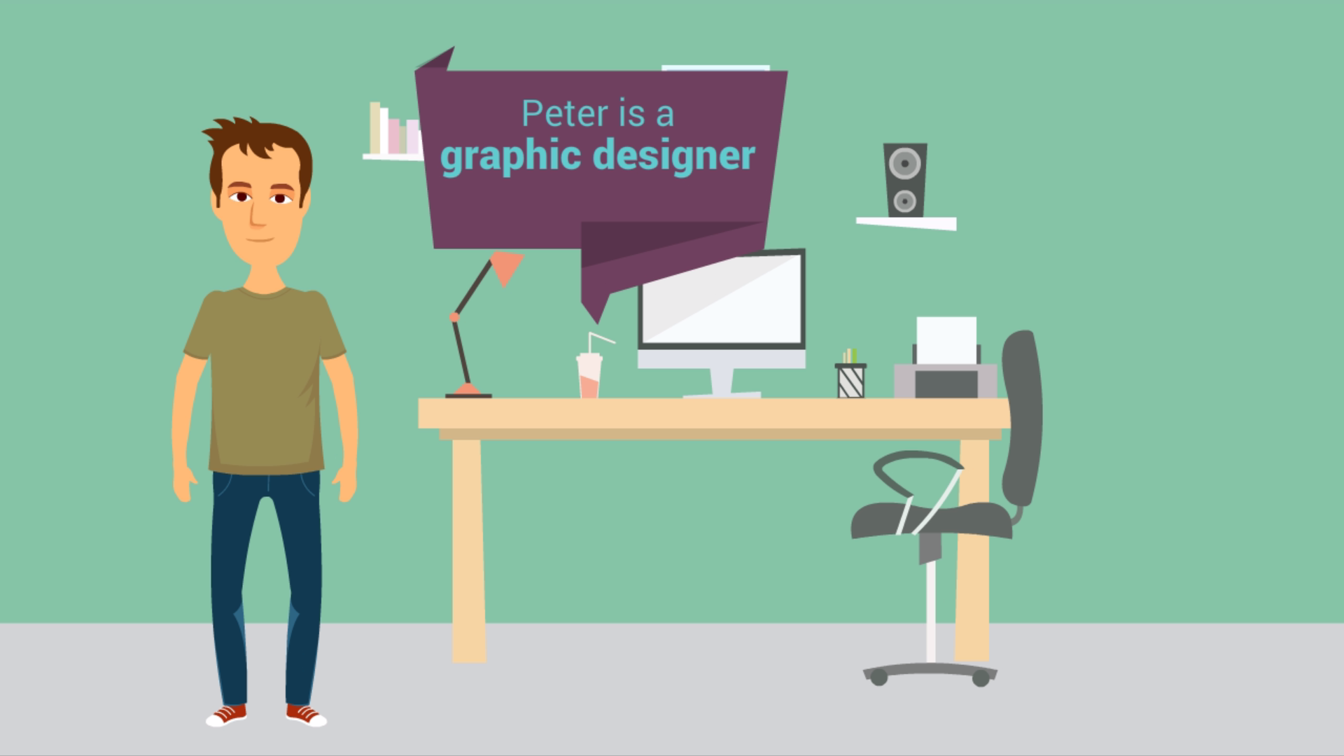 Graphic Designer Explainer Video VideoMaker Fx slides 2019
